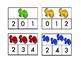 Dinosaur Number Clip cards