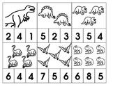 Dinosaur Number Clips