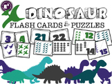 Dinosaur Number Flash Cards and Puzzles