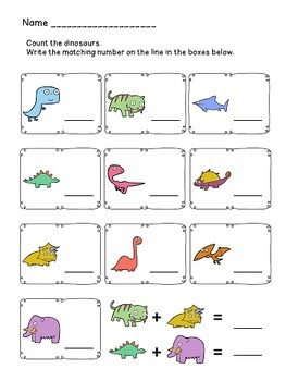 Dinosaur Number Match 1-10