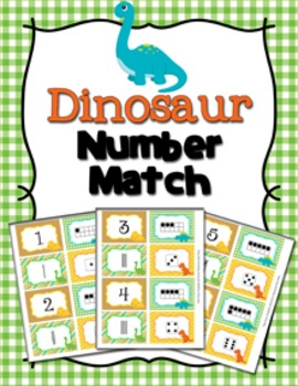 Dinosaur Number Match