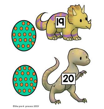 Dinosaur Number Match