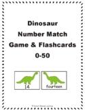 Dinosaur Number Match Game & Flashcards: 0-50 eBook