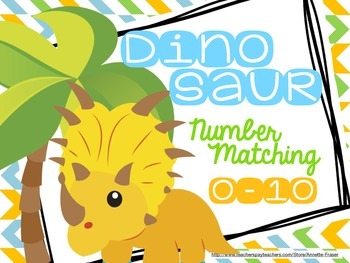 Dinosaur Number Matching Cards