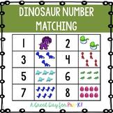 Dinosaur Number Matching Game for Preschool, Prek, and Kin
