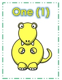 Dinosaur Number Posters 0-20
