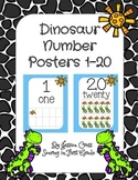 Dinosaur Number Posters 1-20