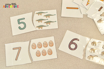 Dinosaur Number Puzzle Cards