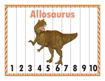 Dinosaur Math Number Puzzles 1-100