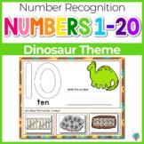 1-20 Dinosaur Number Recognition Mats | Ten-frames, Array, Tally Marks