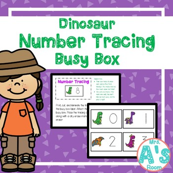 Dinosaur Number Tracing Busy Box