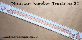 Dinosaur Number Track to 20