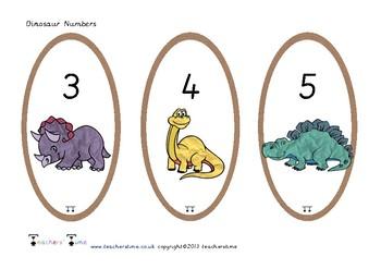 Dinosaur Numbers 0-20