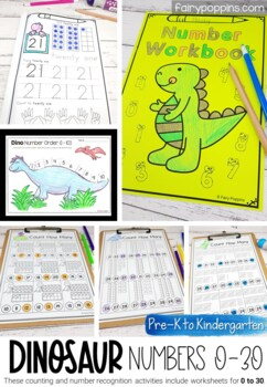 Dinosaur Numbers To 20 With Ten Frames