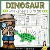 Dinosaur Math Worksheets (0 to 20) *Newly Updated*