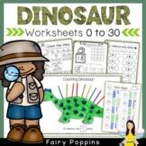 Dinosaur Math Worksheets (0 to 20)