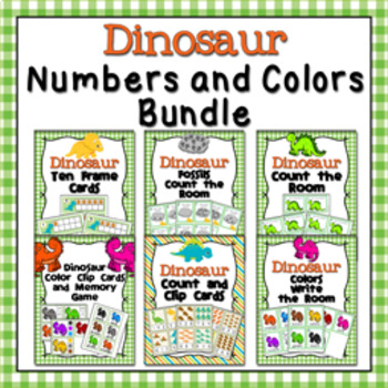 Dinosaur Numbers and Colors Bundle