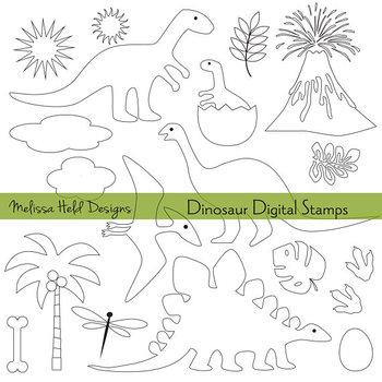 Clipart: Dinosaur Outlines Clip Art