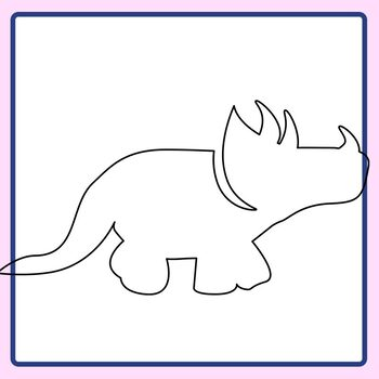 Dinosaur Outlines Transparents Clip Art Set for Commercial Use