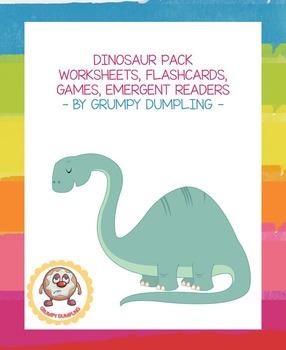 Dinosaur Pack: Books, Emergent Readers, Flashcards, Games