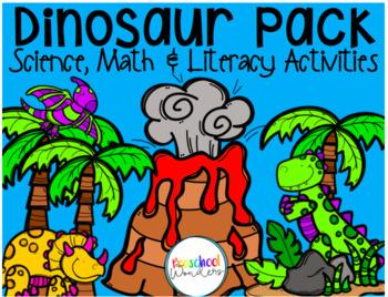 Dinosaur Pack! Science, Math, and Literacy Dinosaur Theme Activities