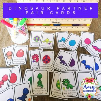 Dinosaur Partner Pairing Cards