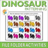 Dinosaur Patterning File Folder Activities