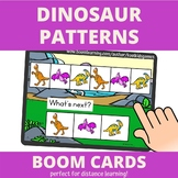 Dinosaur Patterns BOOM Cards (distance learning)