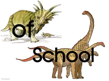 Dinosaur Picture Frame Attachments For 1st Day, 100th Day, & Last Day Of School