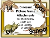 Dinosaur Picture Frame Attachments For 1st Day, 100th Day,