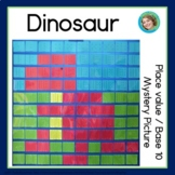 Dinosaur Place Value / Base 10 Blocks Mystery Picture