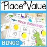 Place Value Bingo Game Dinosaur Theme
