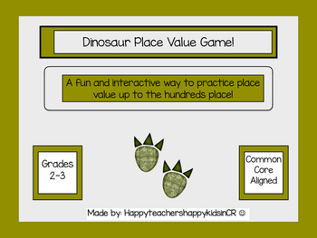 Dinosaur Place Value Game