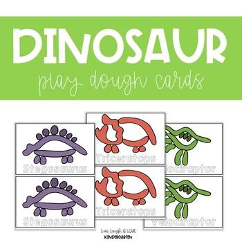 Dinosaur Play Dough Cards