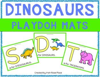 Dinosaur Playdoh Mats