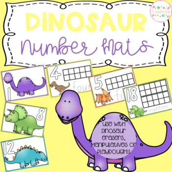 Dinosaur Playdough Number Mats