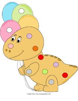 Dinosaur Pom Pom Activity