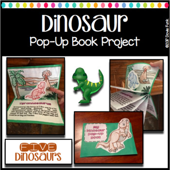 Dinosaur 5-Page Pop-Up Book