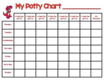 Potty Training Chart Worksheets Teaching Resources Tpt
