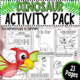 Dinosaur Prehistoric Activity Pack (PreK & Kindergarten)