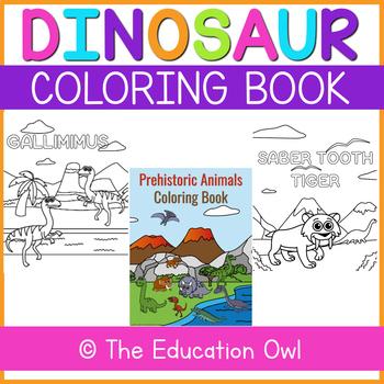 Dinosaur/Prehistoric Animals Coloring Book