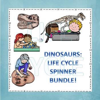 """Dinosaurs """"Prehistoric Bundle"""" (Peekaboo Spinner Wheel)"""