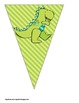 Dinosaur / Prehistoric Themed Buntings- Customize Your Own Banner!