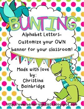 Dinosaur / Prehistoric Themed Buntings- Customize Your Own