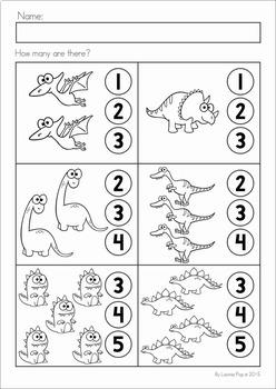 Dinosaur Preschool No Prep Worksheets & Activities ...