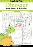Dinosaur Preschool No Prep Worksheets & Activities Distanc