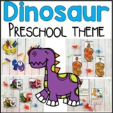 Dinosaur Math and Literacy Centers for Preschool, PreK, and Kinder