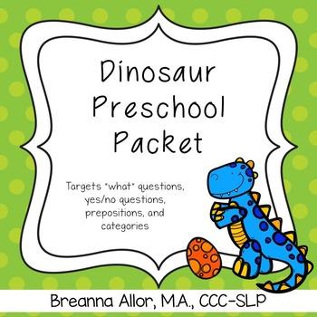Dinosaur Preschool Packet