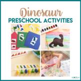 Dinosaur Preschool Theme - Literacy, Math, STEM, & Art Centers
