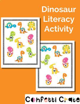 Dinosaur Preschool Literacy Activity